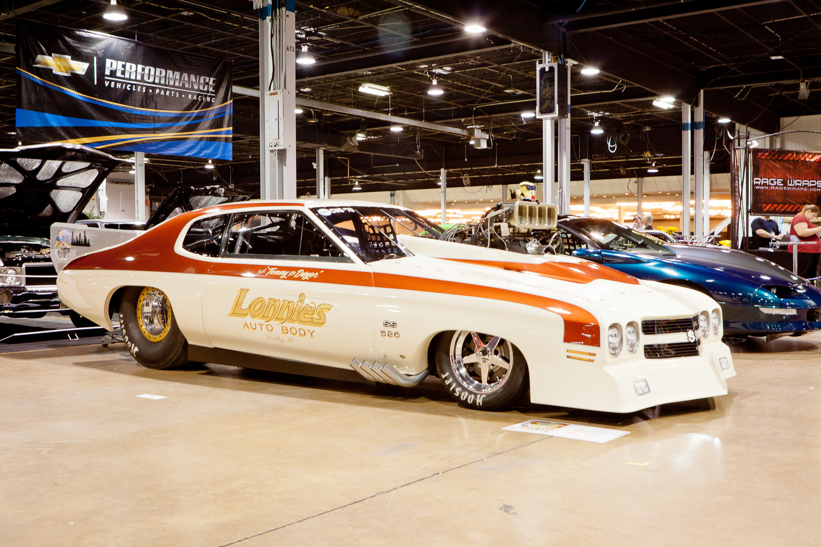 Cream/Orange 1970 Chevrolet Chevelle SS