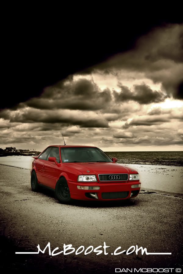 tornado red 1990 Audi Coupe quattro 20vt