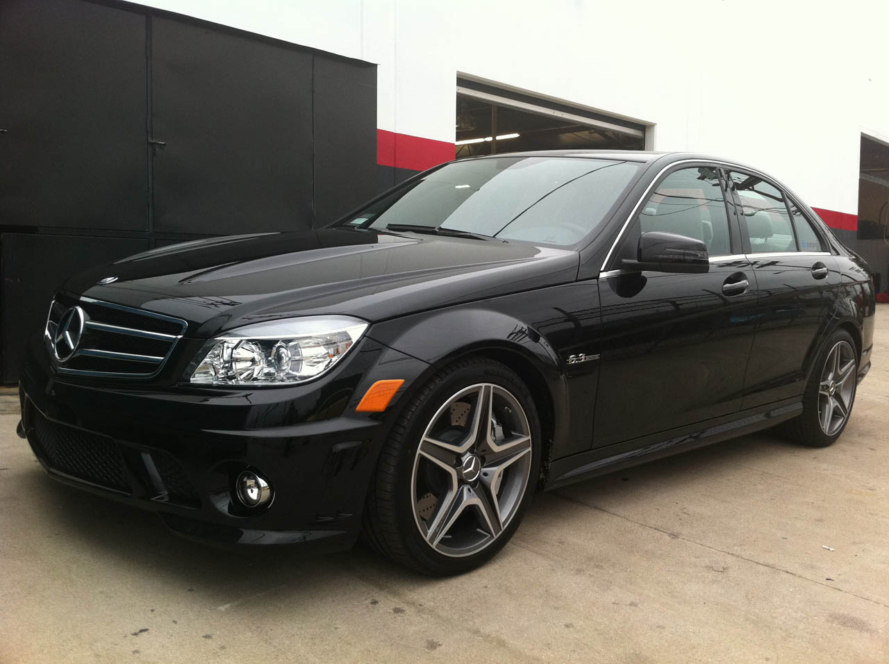 2011 Mercedes-Benz C63 AMG OE Tuning, Gintani Stg1 Exhaust, Street Tire