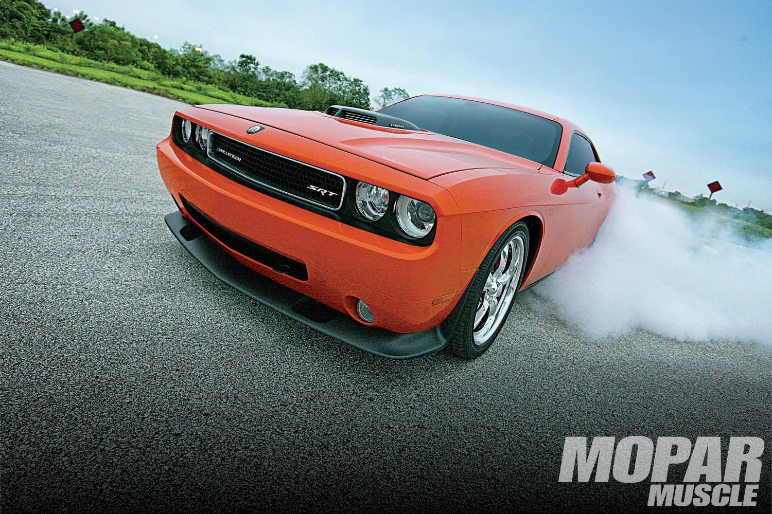 Hemi Orange Pearl 2008 Dodge Challenger SRT8 Twin Turbo