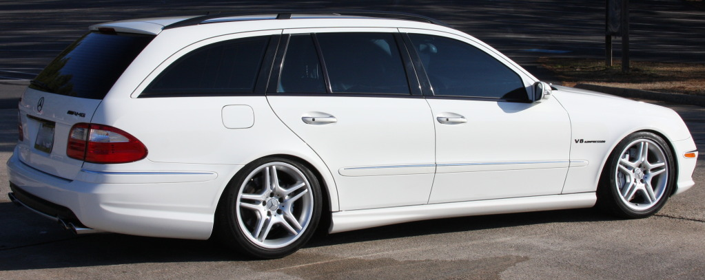 White 2005 Mercedes-Benz E55 AMG Wagon