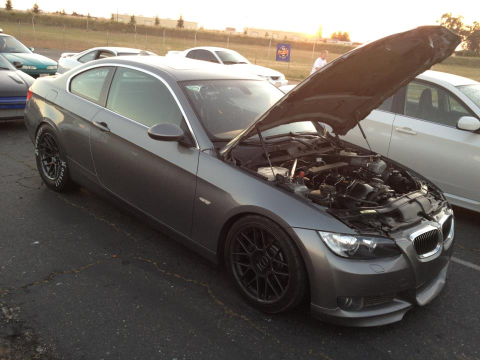 Space Gray 2007 BMW 335i Vishnu/FFTEC Single Turbo (Procede)