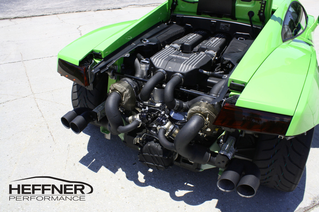 2009 Verde Ithaca Lamborghini Gallardo LP560 Twin Turbo Heffner Bolt on Kit picture, mods, upgrades