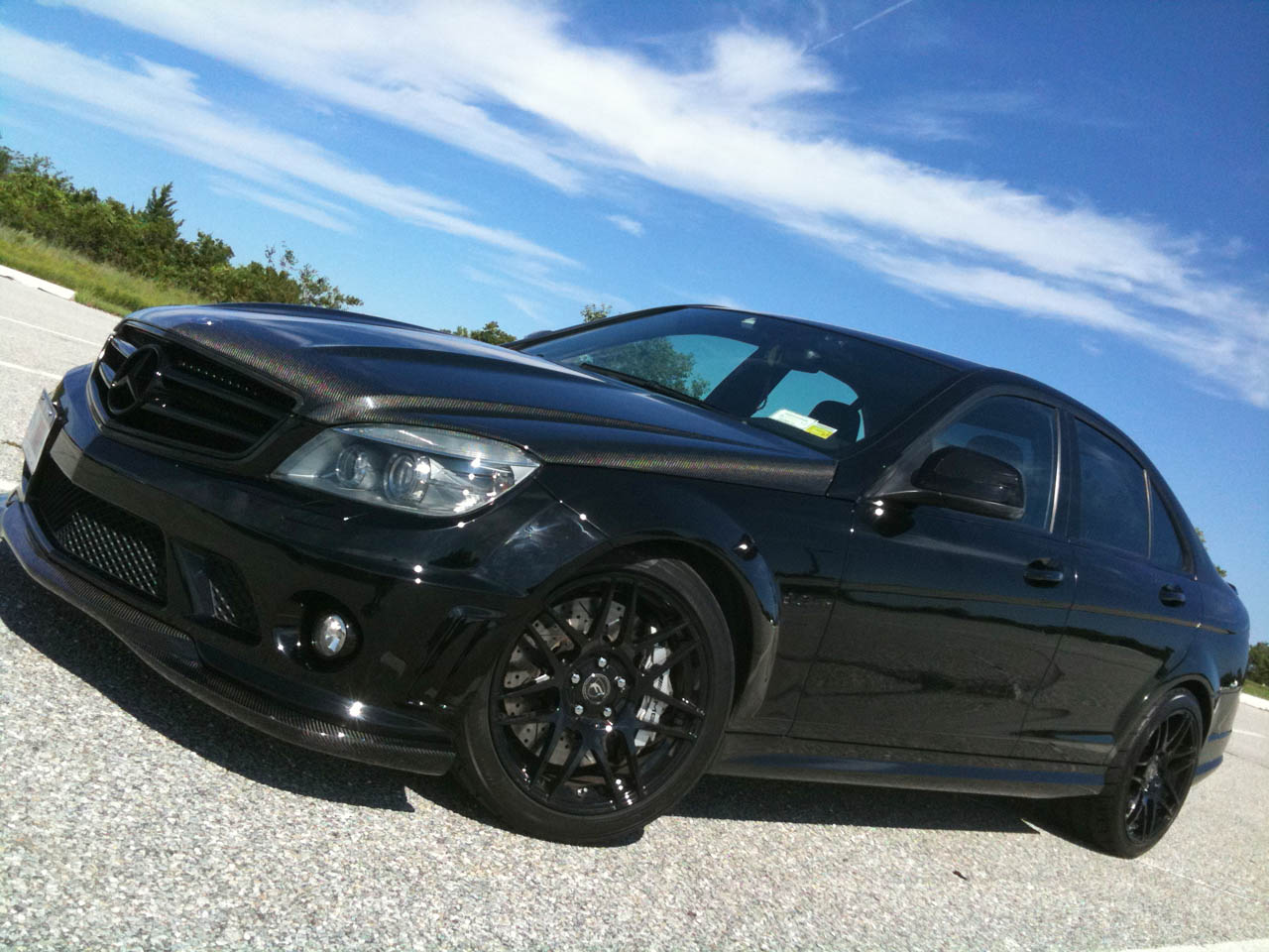 Black  2008 Mercedes-Benz C63 AMG AMG