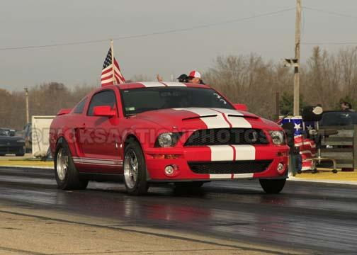 Torch Red/White stripes 2007 Ford Mustang Shelby-GT500