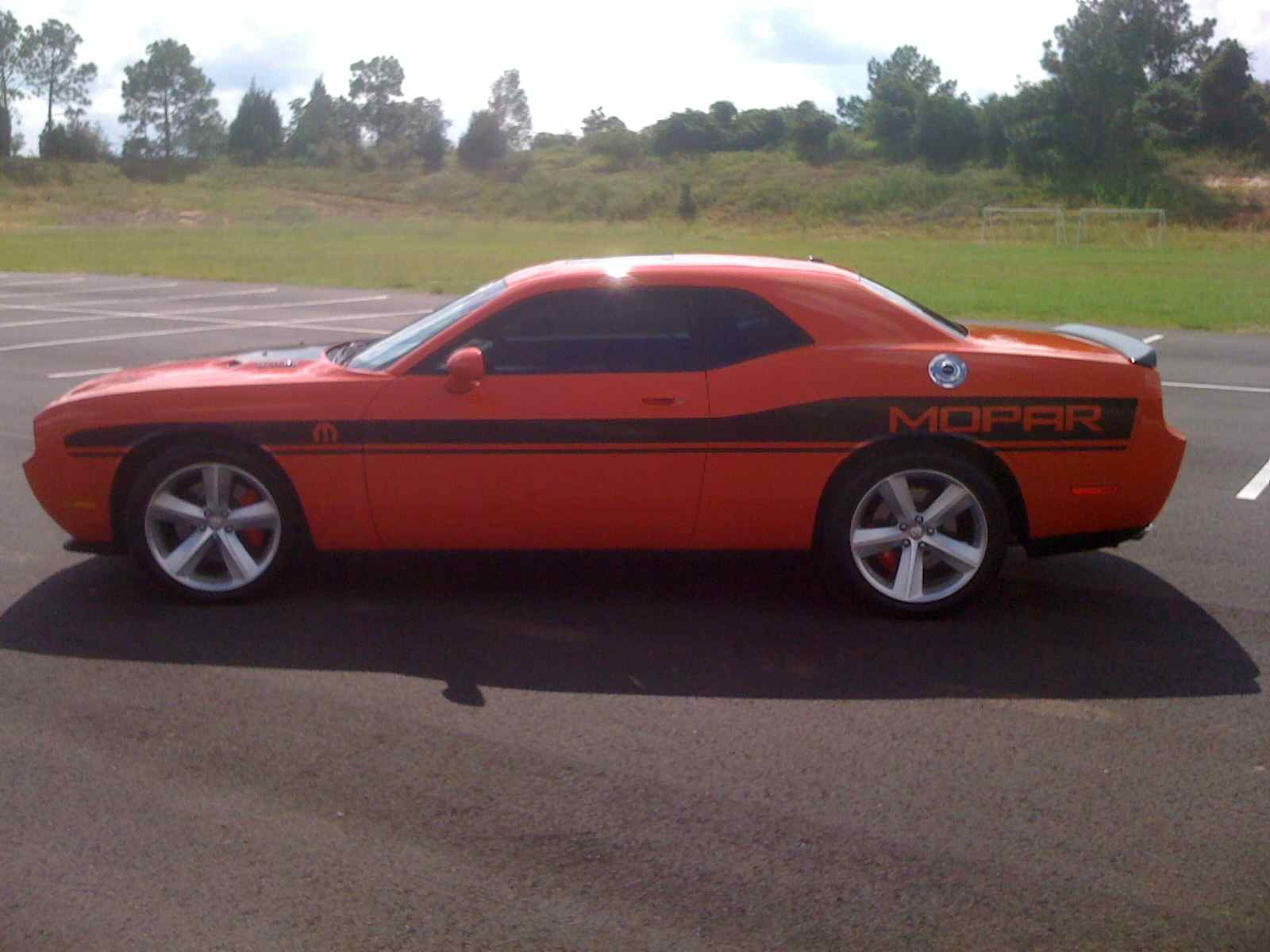 Orange 2008 Dodge Challenger SRT8 Hennessey 620