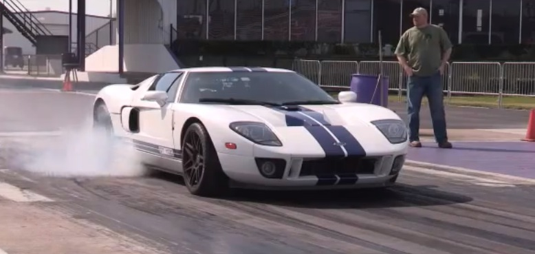 Blue White Stripes 2005 Ford GT Supercharged Twin Turbo Nitrous