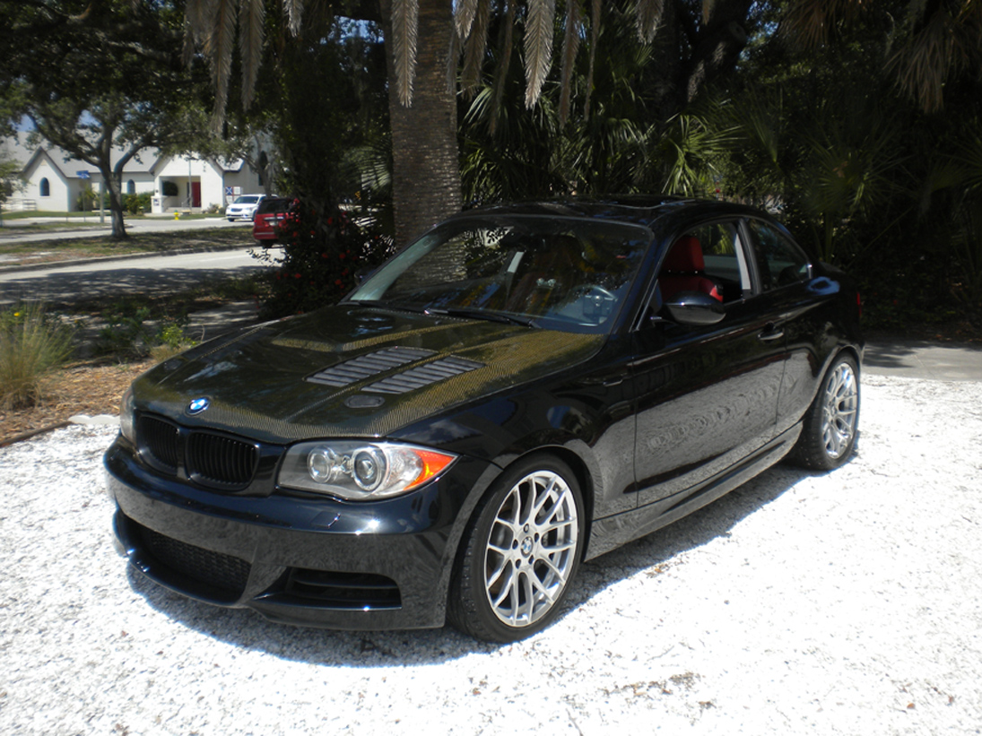 Black 2008 BMW 135i 6 cyl 3.0 ltr turbo