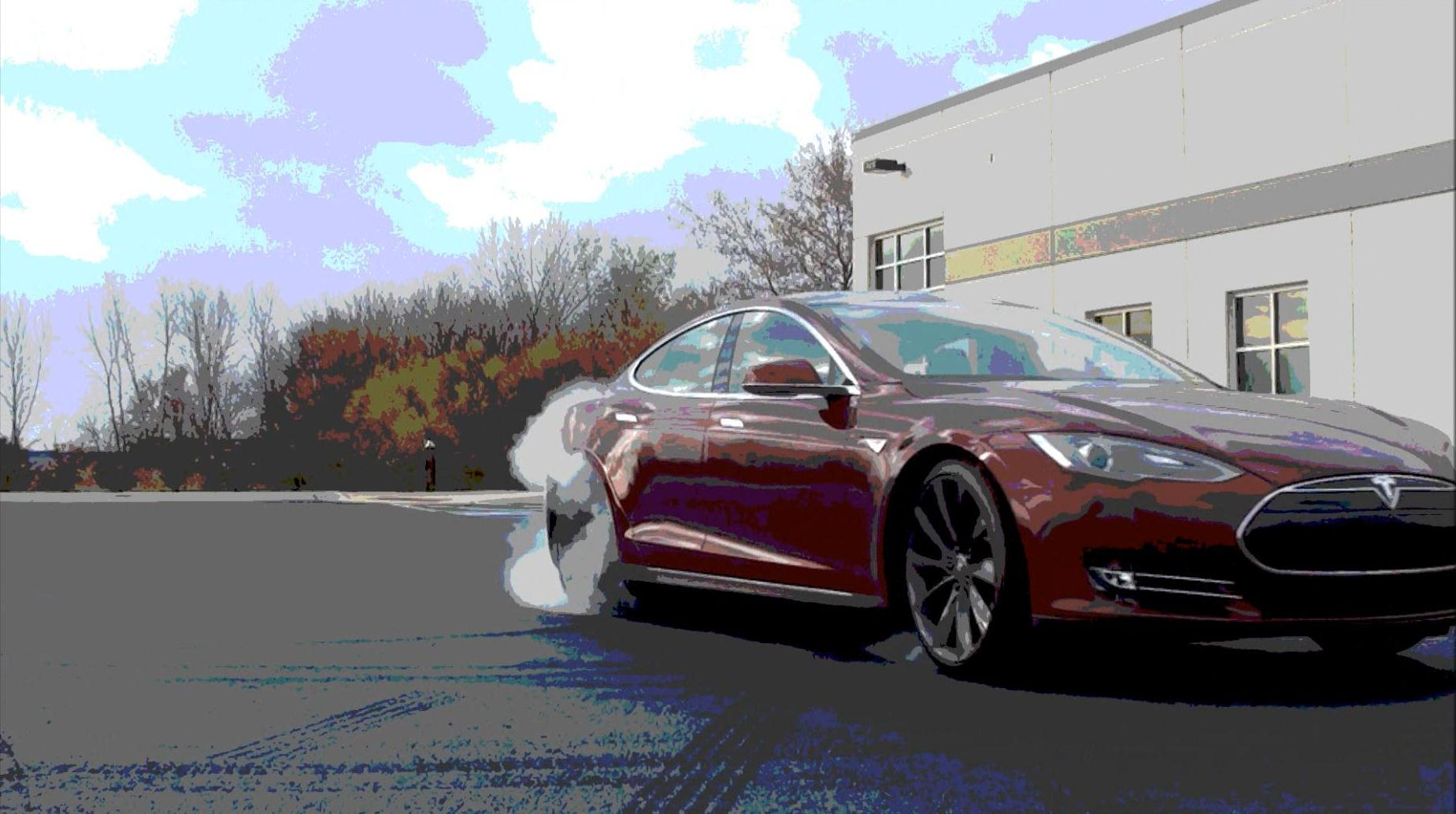 Signature Red 2012 Tesla Model S Performance