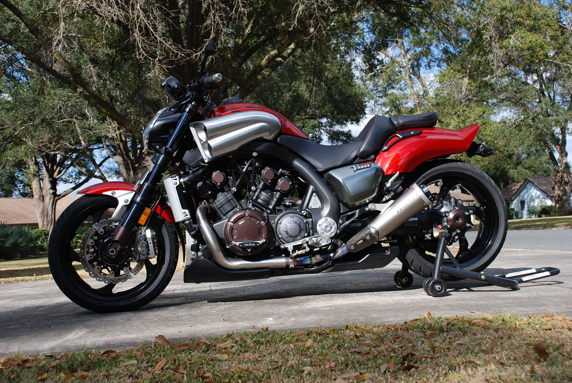 Red 2010 Yamaha V Max