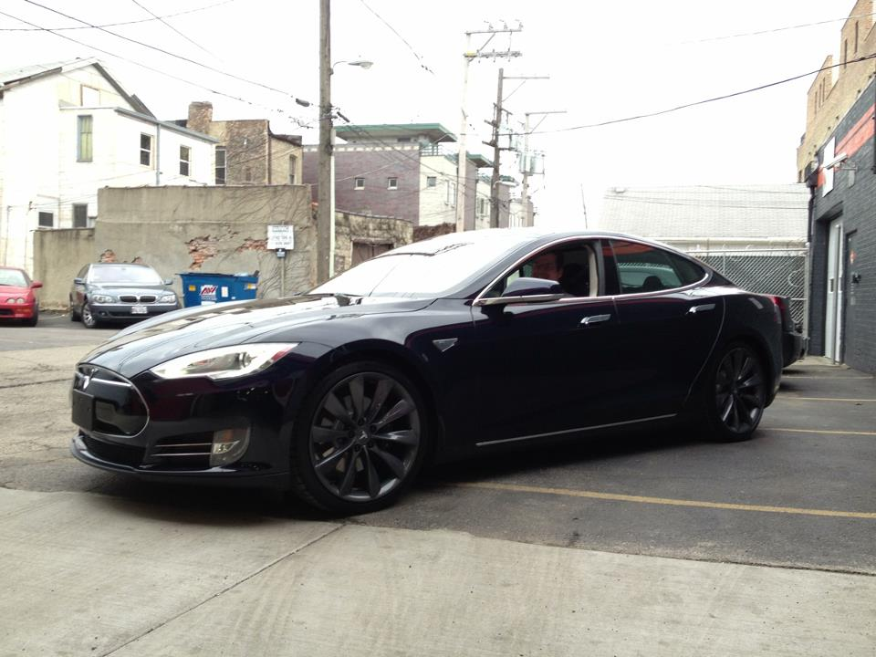 Blue 2013 Tesla Model S Performance