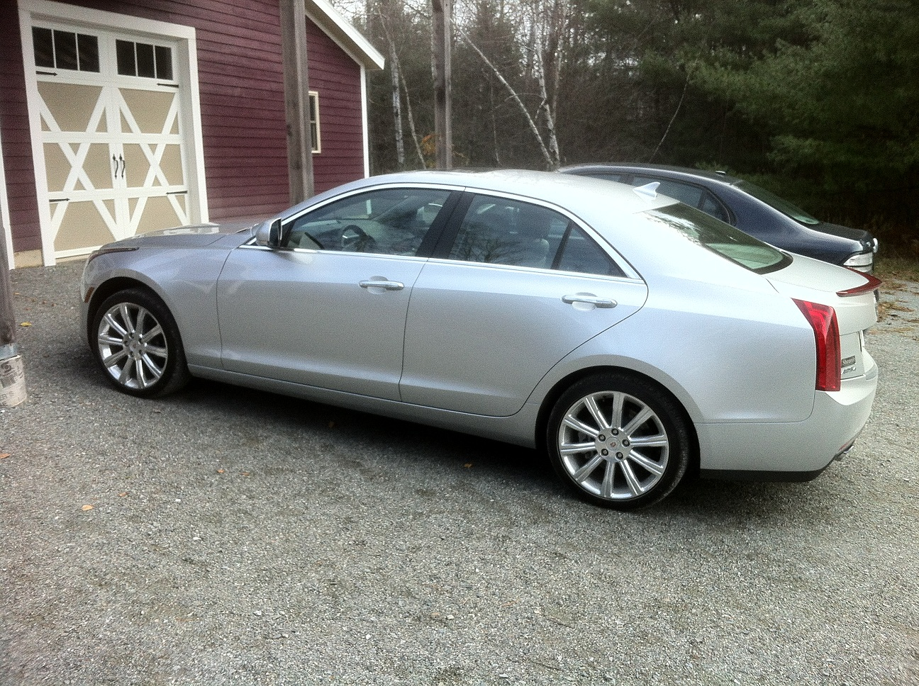 Silver 2013 Cadillac ATS 2.0T AWD Automatic
