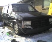 Black 1989 Plymouth Voyager se