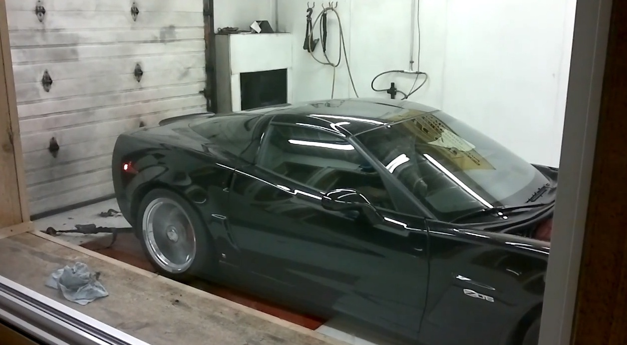 Black 2008 Chevrolet Corvette C6 Z06
