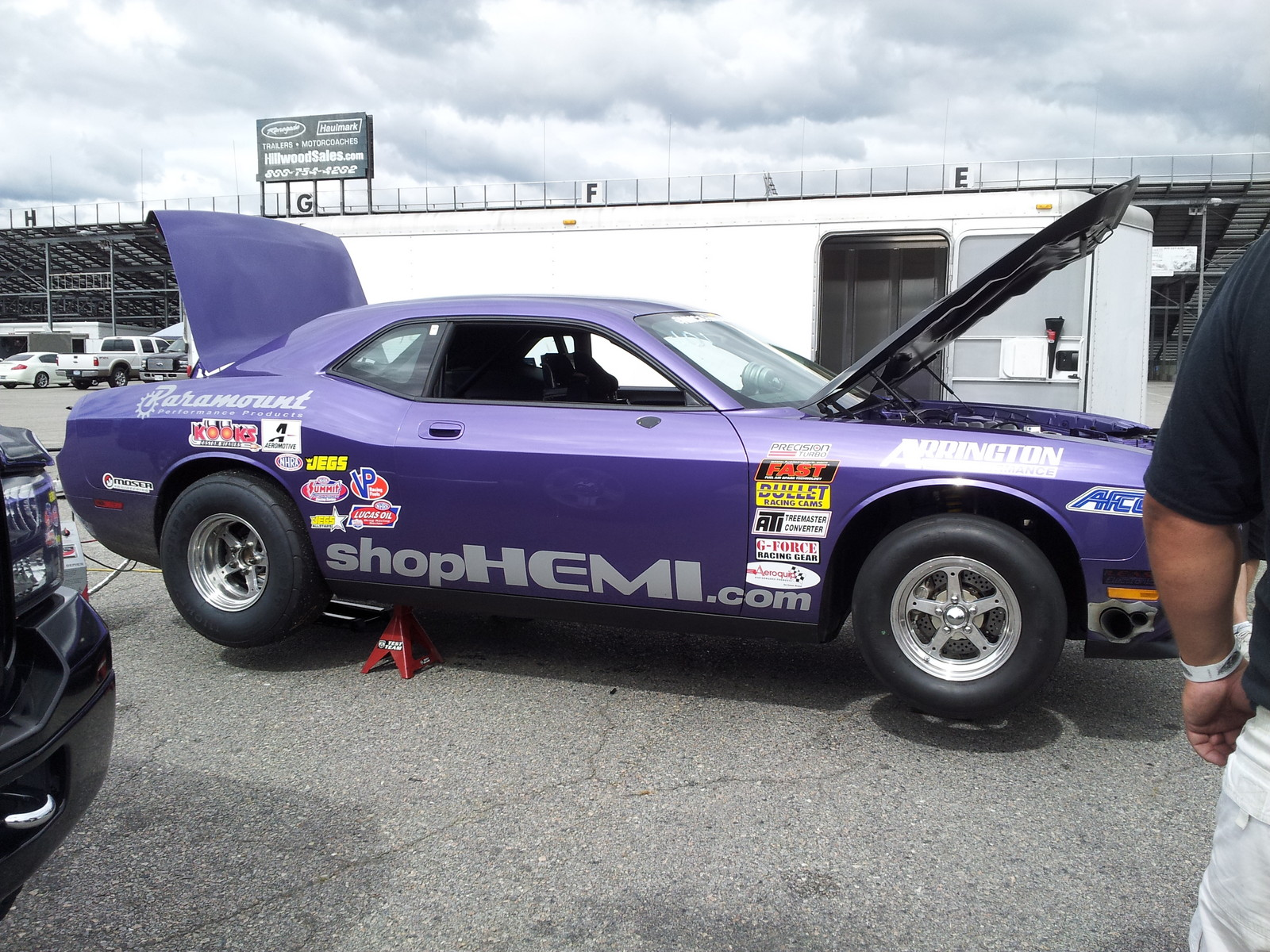 Purple 2009 Dodge Challenger SRT8 Drag Pak