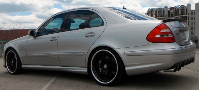 2003 Silver Mercedes-Benz E55 AMG  picture, mods, upgrades