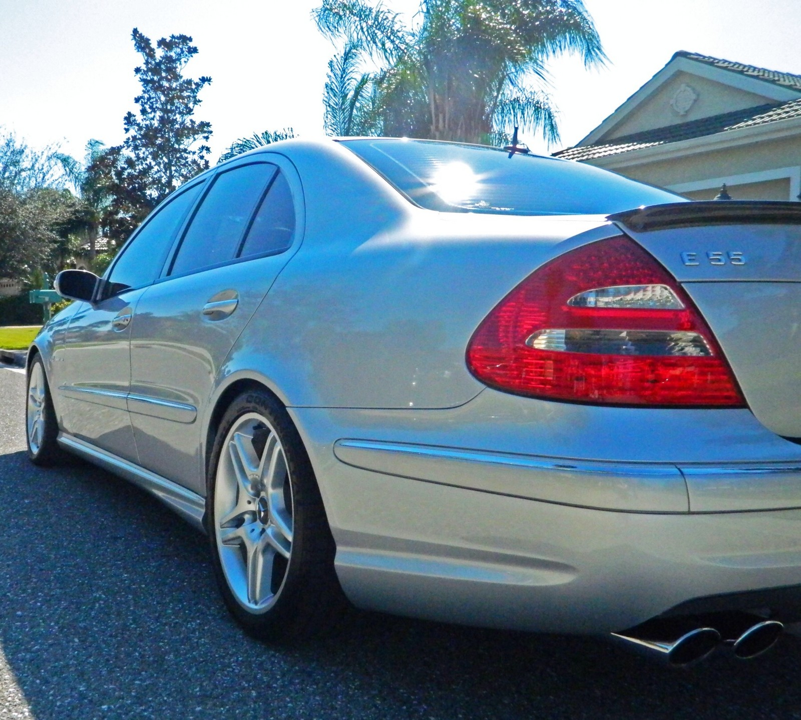 Pewter 2004 Mercedes-Benz E55 AMG