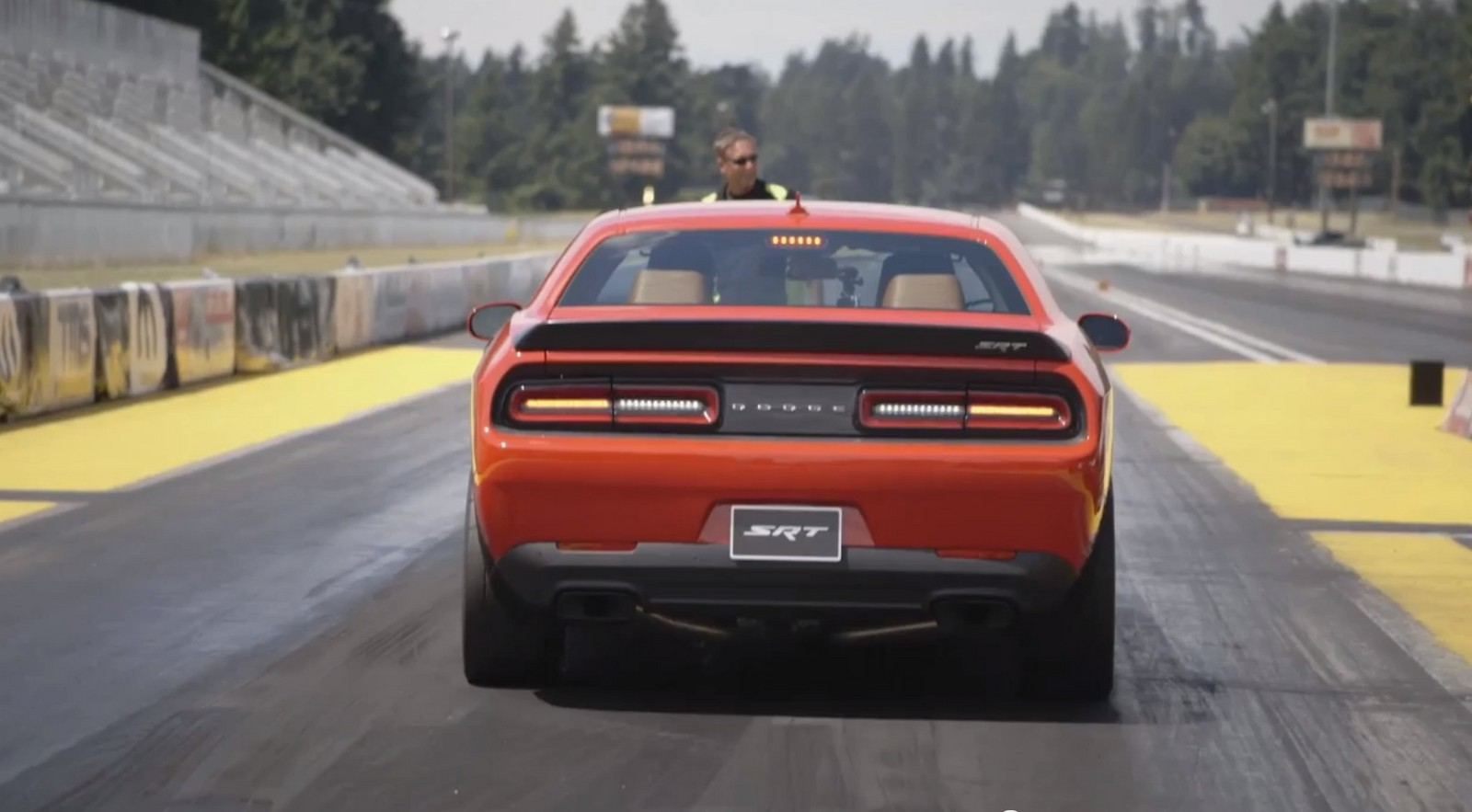 Orange 2015 Dodge Challenger Hellcat