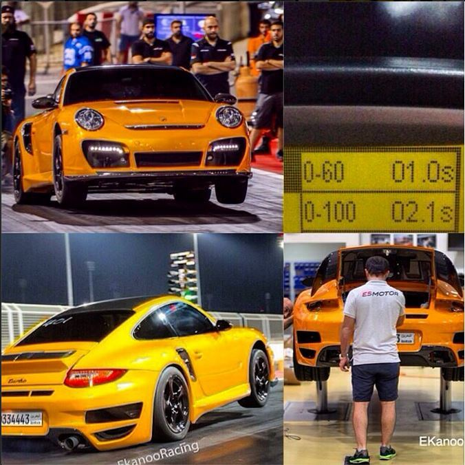 Orange 2008 Porsche 911 Turbo Tiptronic