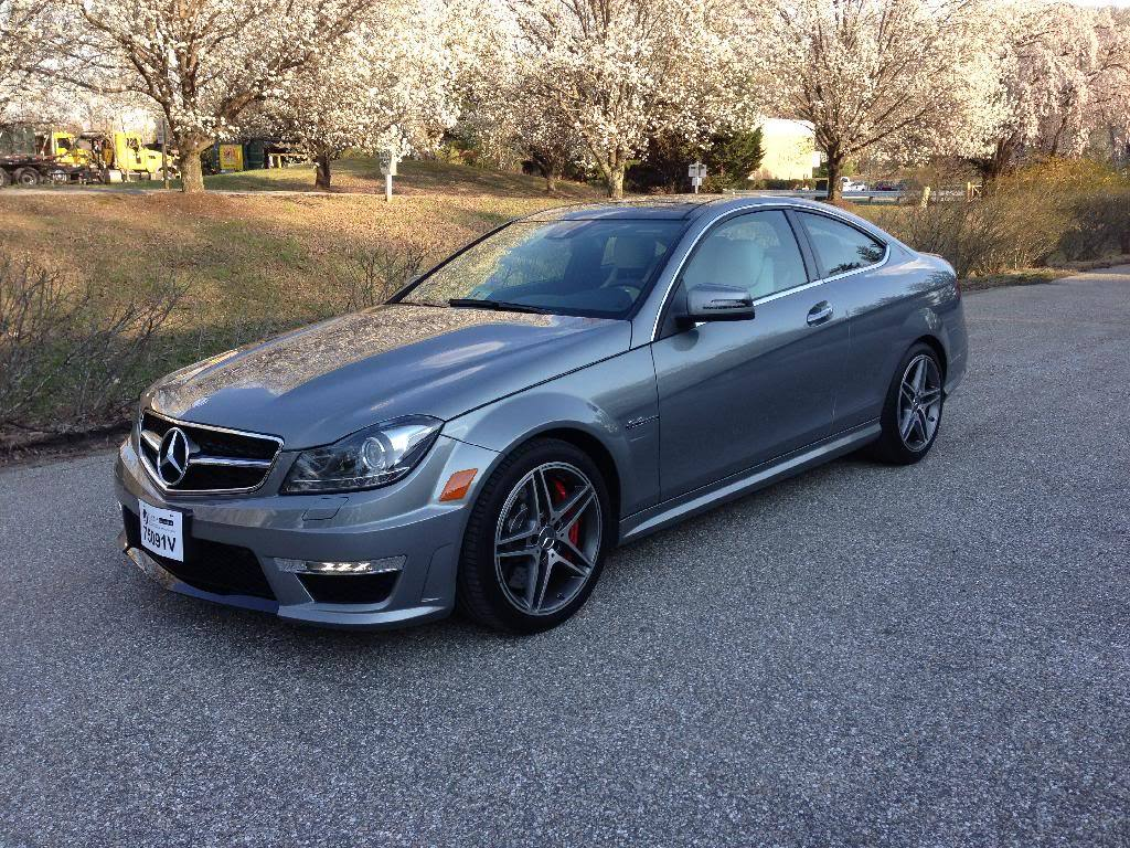 2013 Silver Mercedes-Benz C63 AMG Coupe P31 picture, mods, upgrades