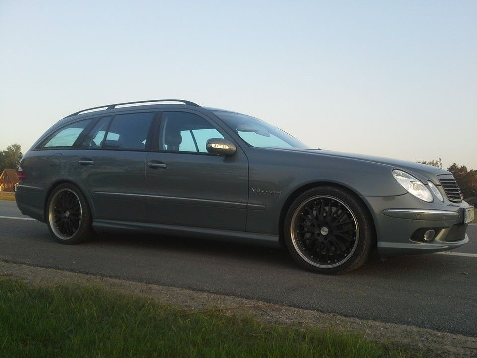 green 2004 Mercedes-Benz E55 AMG touring