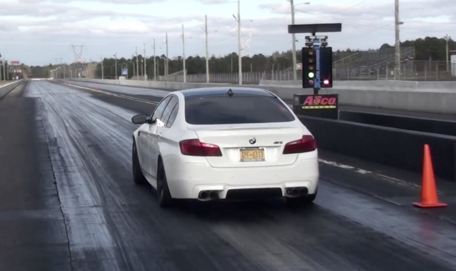 White 2013 BMW M5 Tune, Meth, Exhaust