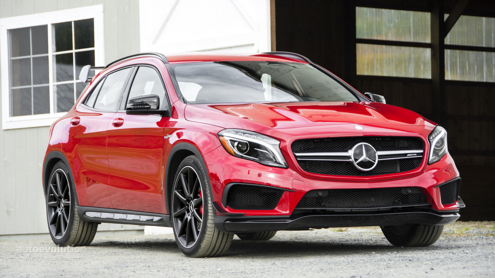RED 2015 Mercedes-Benz GLA45 AMG