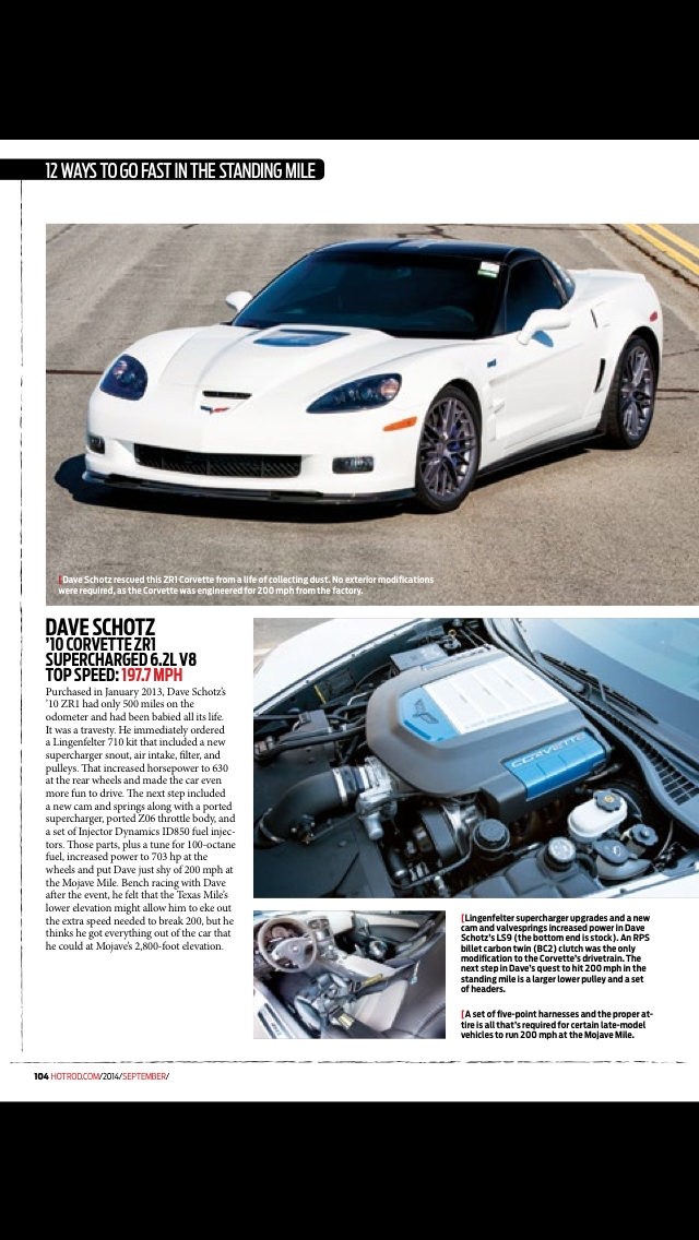 White 2010 Chevrolet Corvette ZR1 3ZR