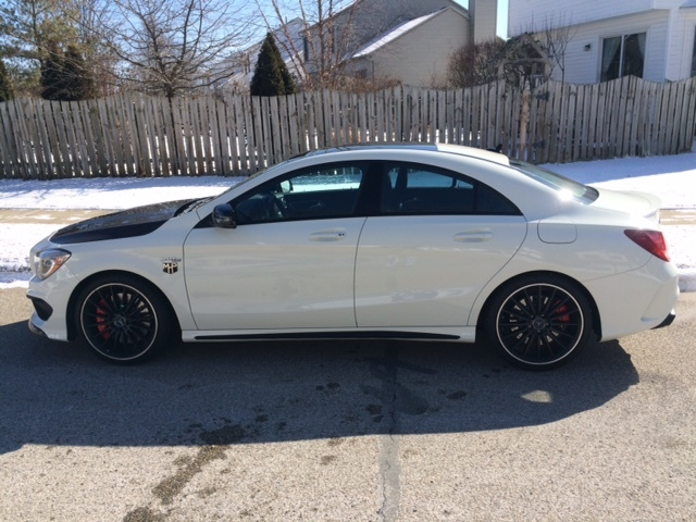 White 2014 Mercedes-Benz CLA45 AMG