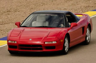 Red 1991 Acura NSX