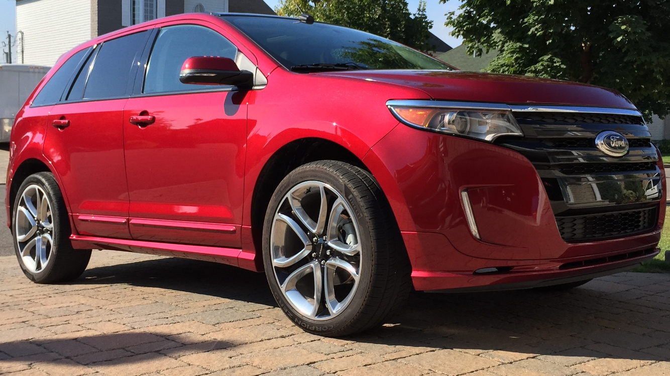 Red 2013 Ford Edge Sport AWD