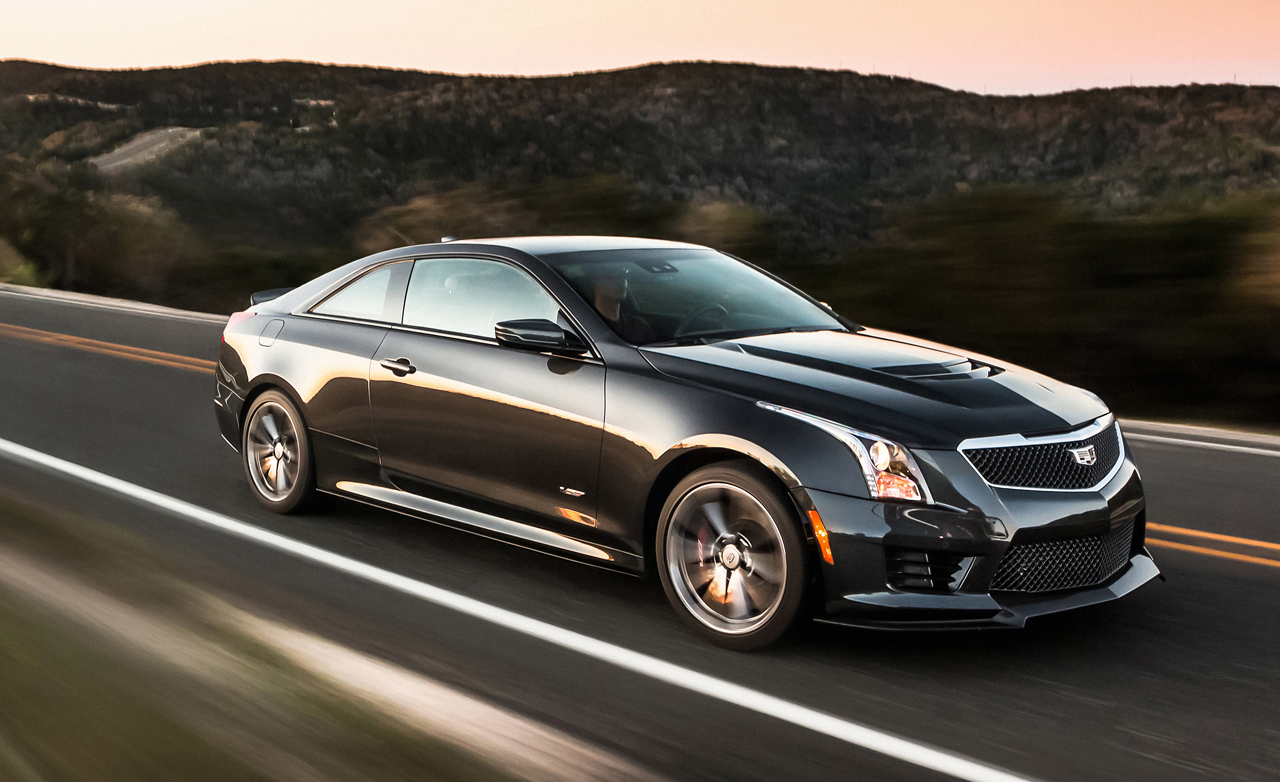 Metallic Black 2016 Cadillac ATS V coupe