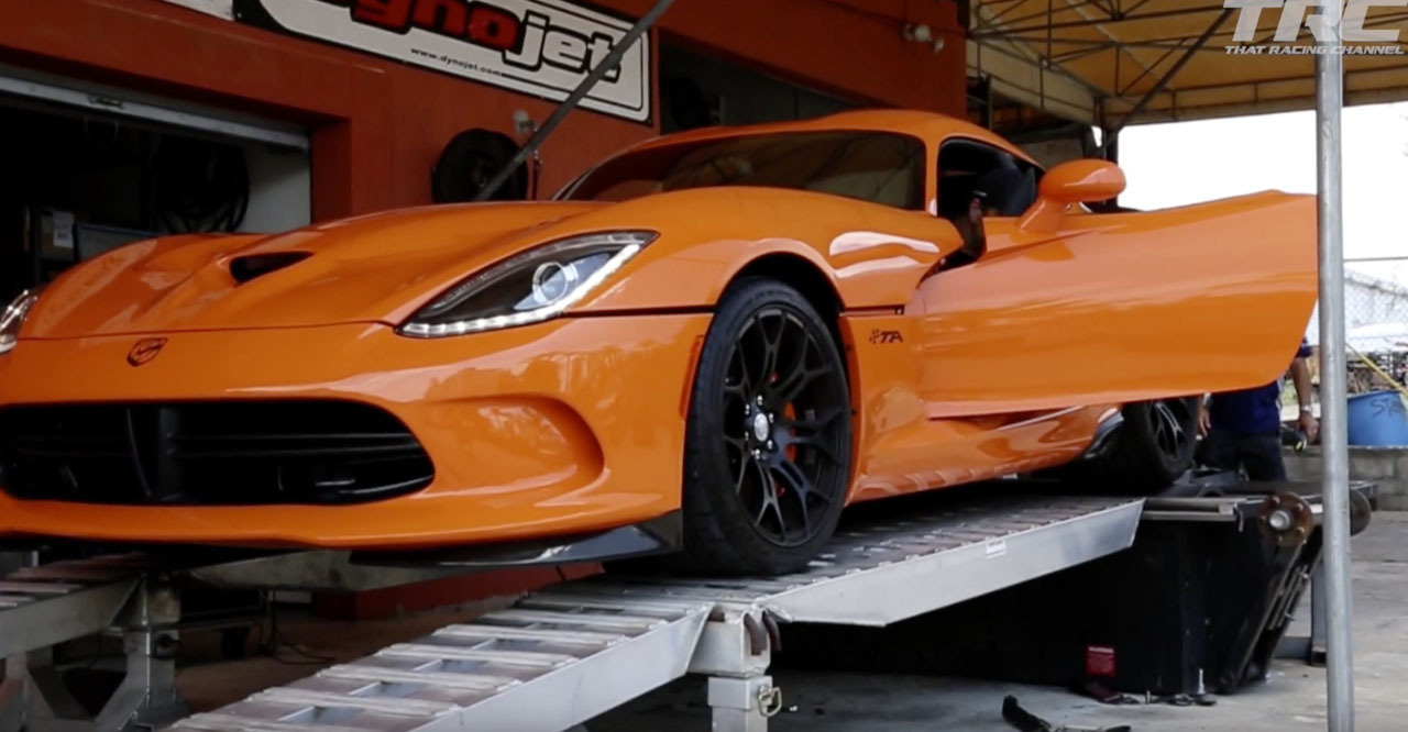 Orange 2014 Dodge Viper TA Nitrous