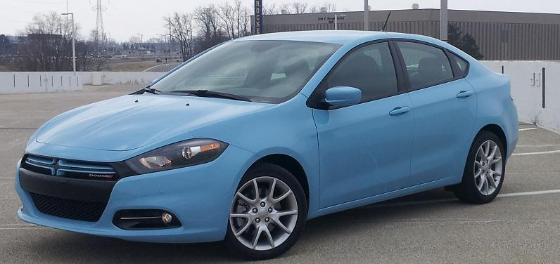 Blue 2013 Dodge Dart Rallye