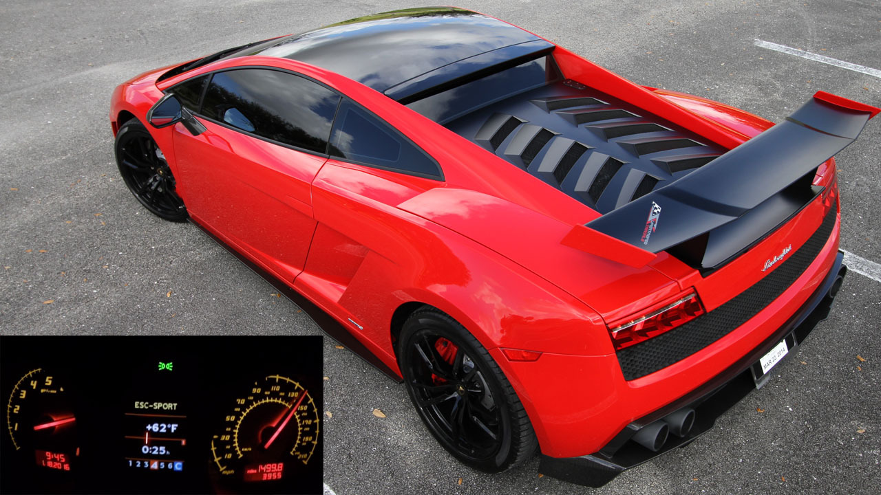Red and Black 2012 Lamborghini Gallardo LP570-4 Super Trofeo Stradale