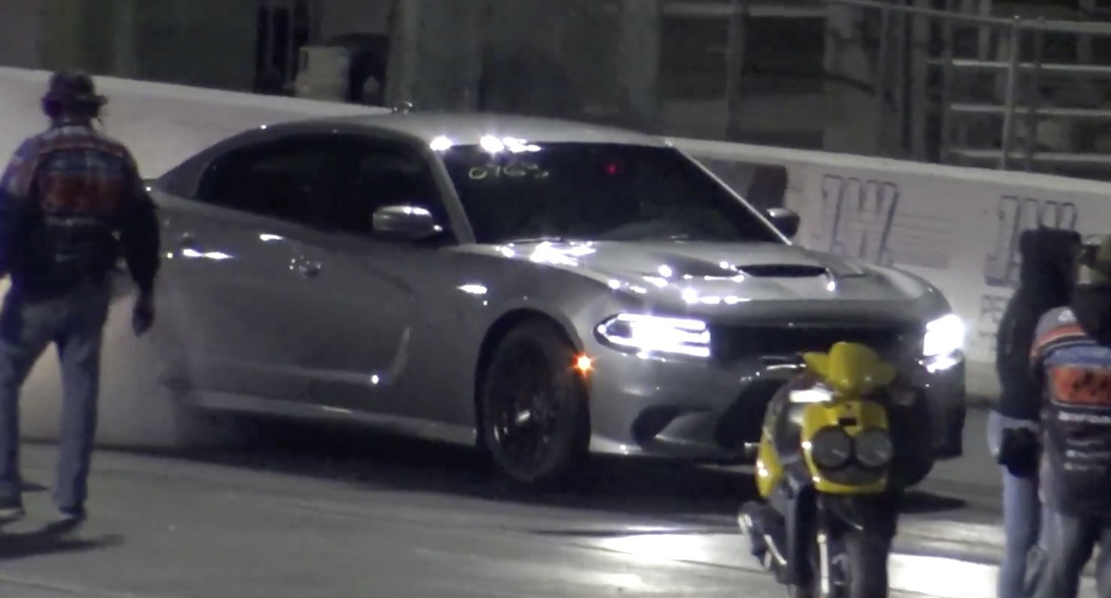 Silver 2016 Dodge Charger Hellcat