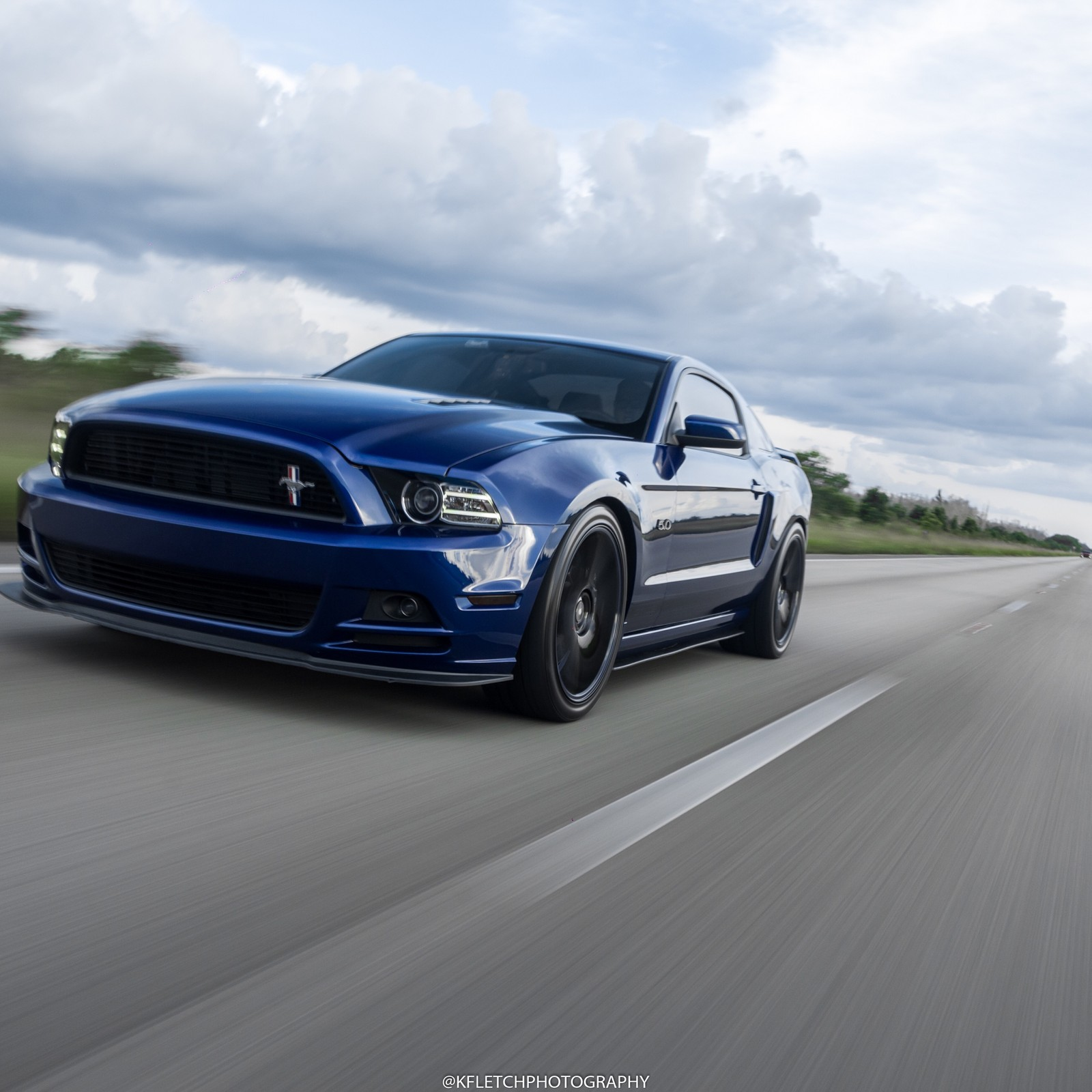 Blue  2013 Ford Mustang GT