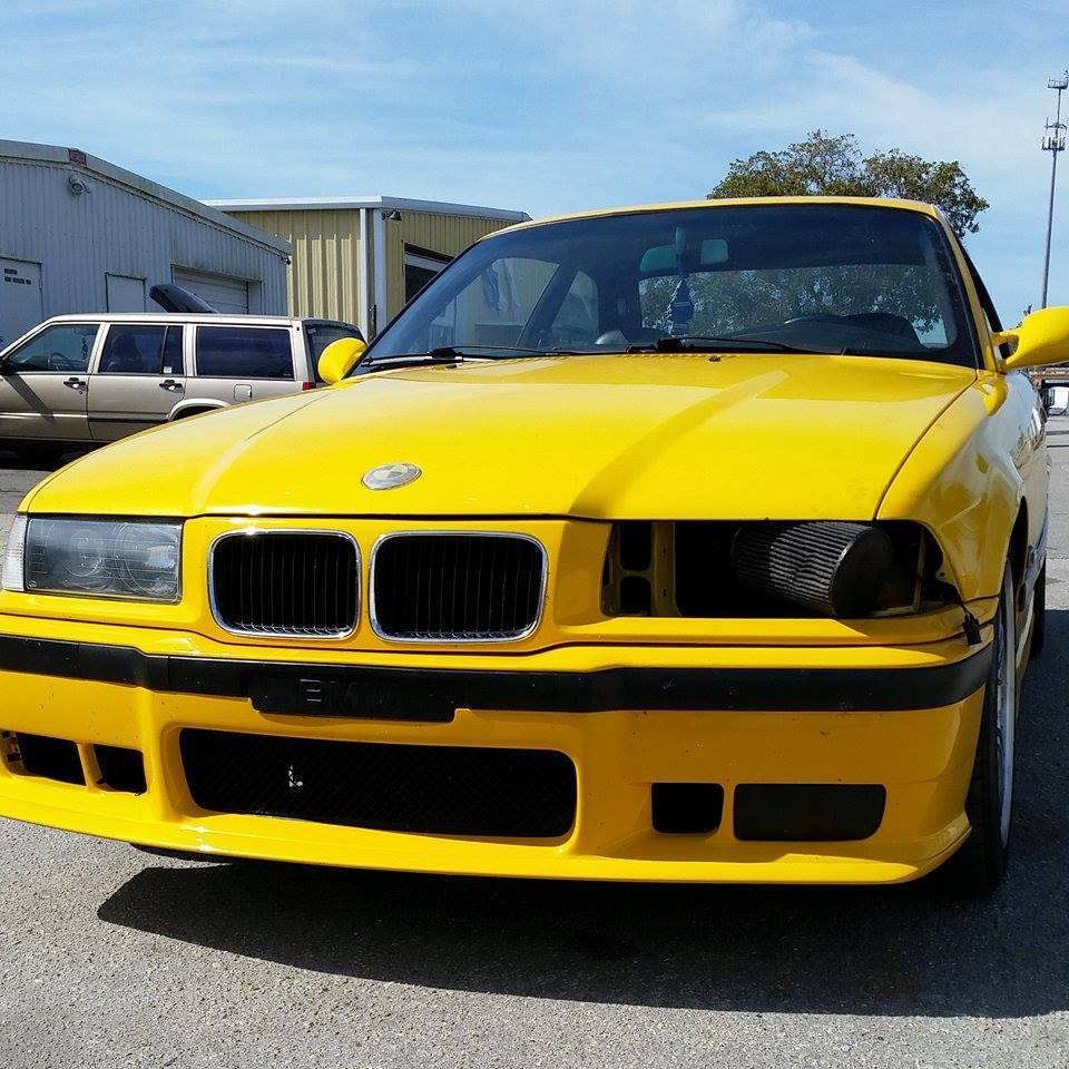Yellow 1995 BMW M3 US Spec