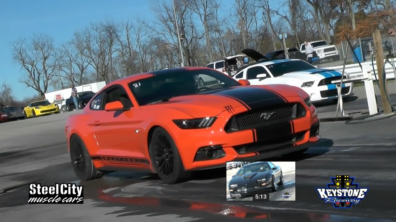 Orange 2015 Ford Mustang GT Whipple Supercharger