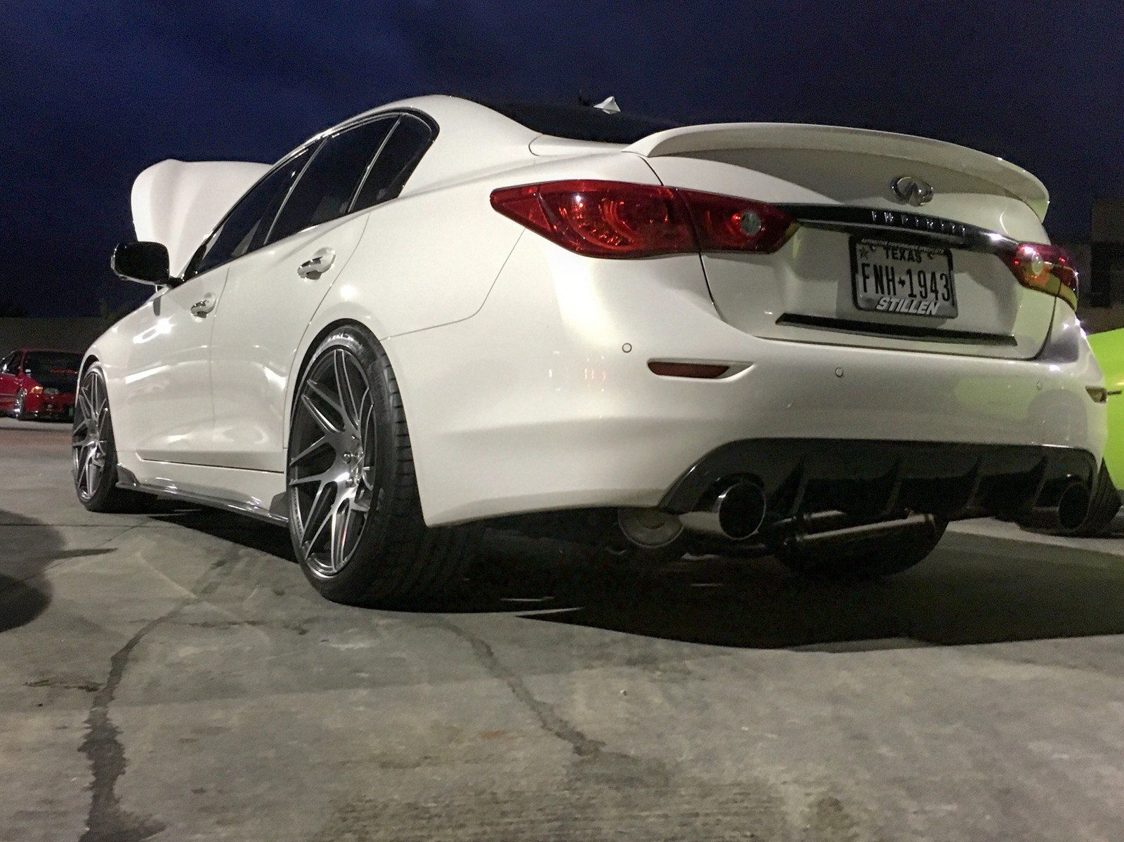 Moonlight White 2015 Infiniti Q50 Sport