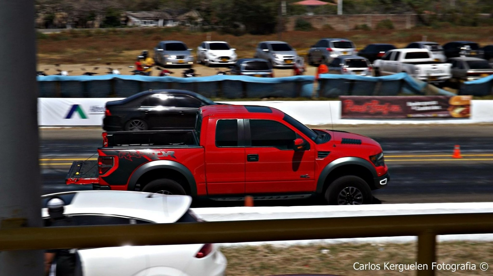 Red 2013 Ford F150 Raptor