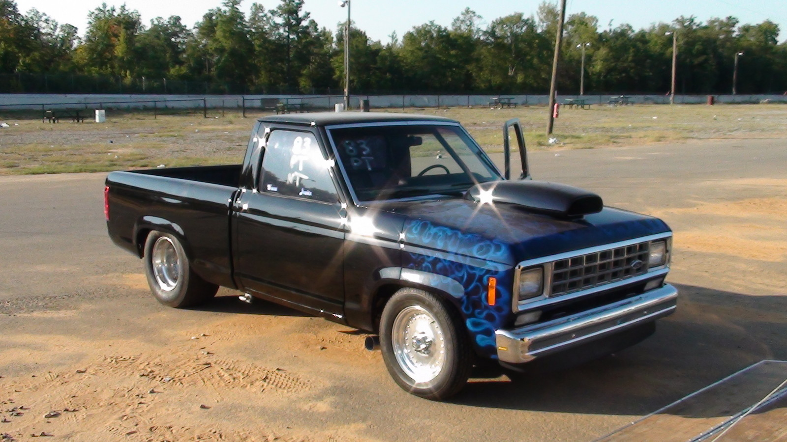 1983 black Ford Ranger pickup licensed for highway picture, mods, upgrades