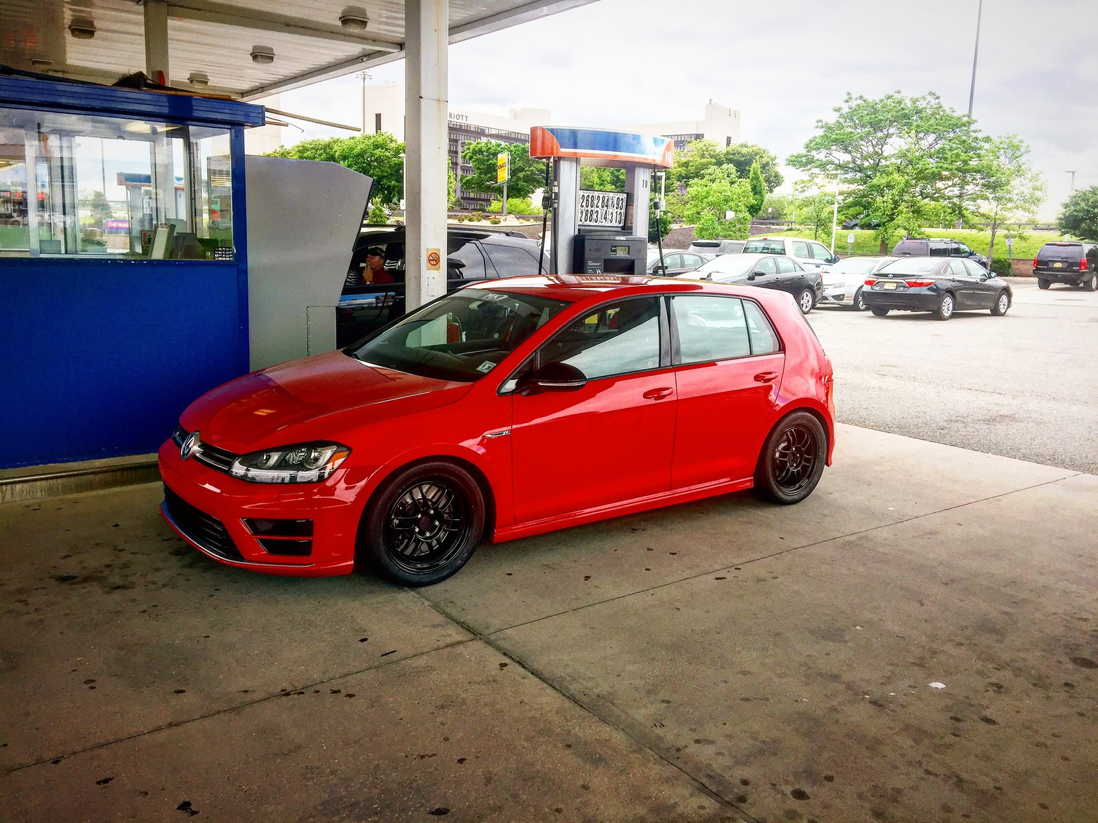 Red  2015 Volkswagen Golf R DSG