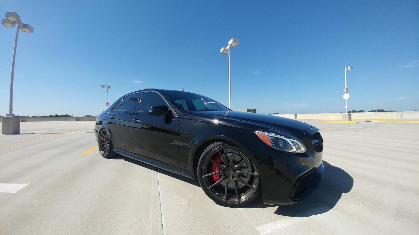 Black 2014 Mercedes-Benz E63 AMG S
