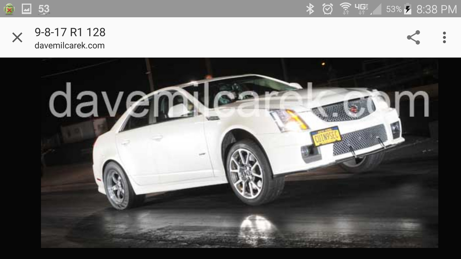 2009 White diamond  Cadillac CTS-V  picture, mods, upgrades