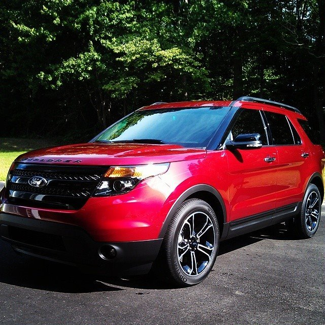 Ruby Red 2014 Ford Explorer Sport