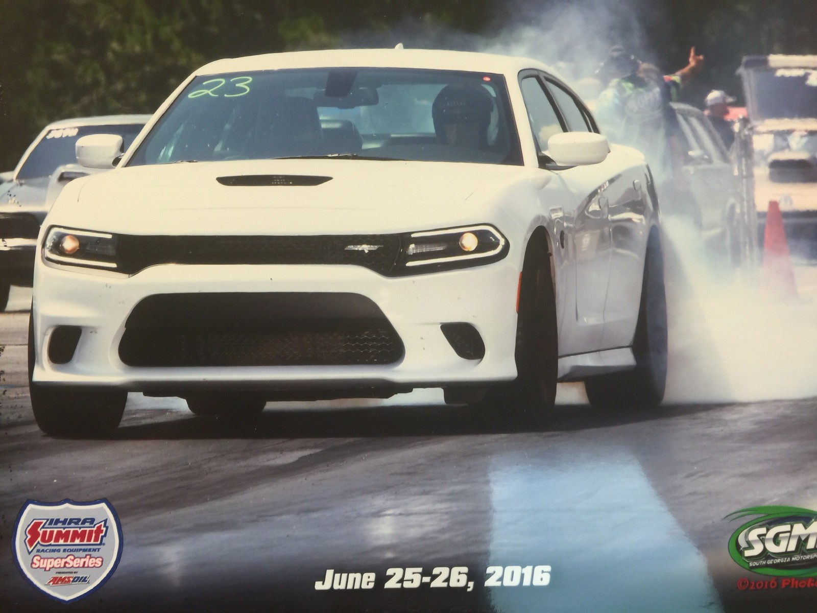 White  2016 Dodge Charger Hellcat