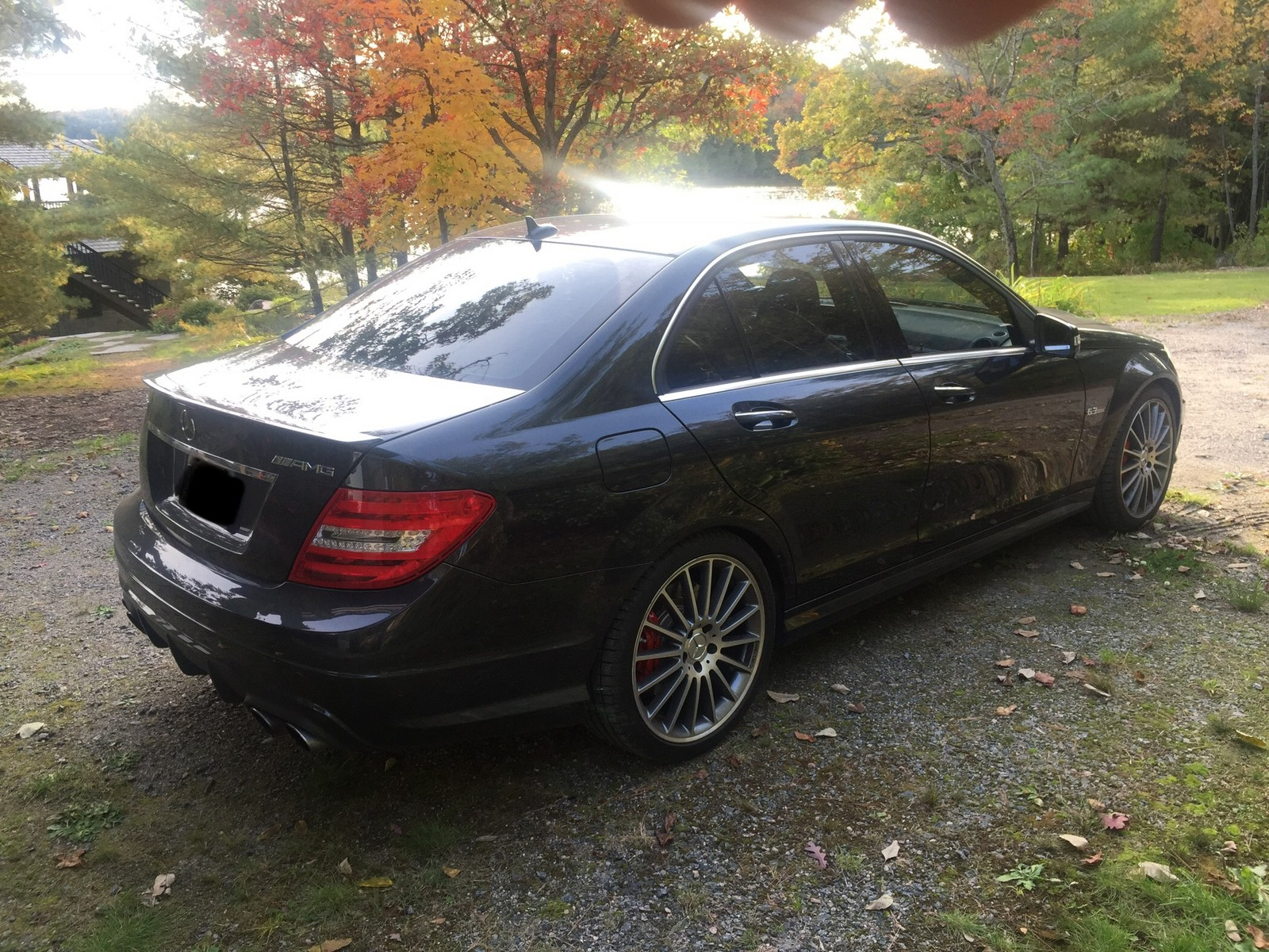Stock 2013 Mercedes Benz C63 AMG P31 Development package