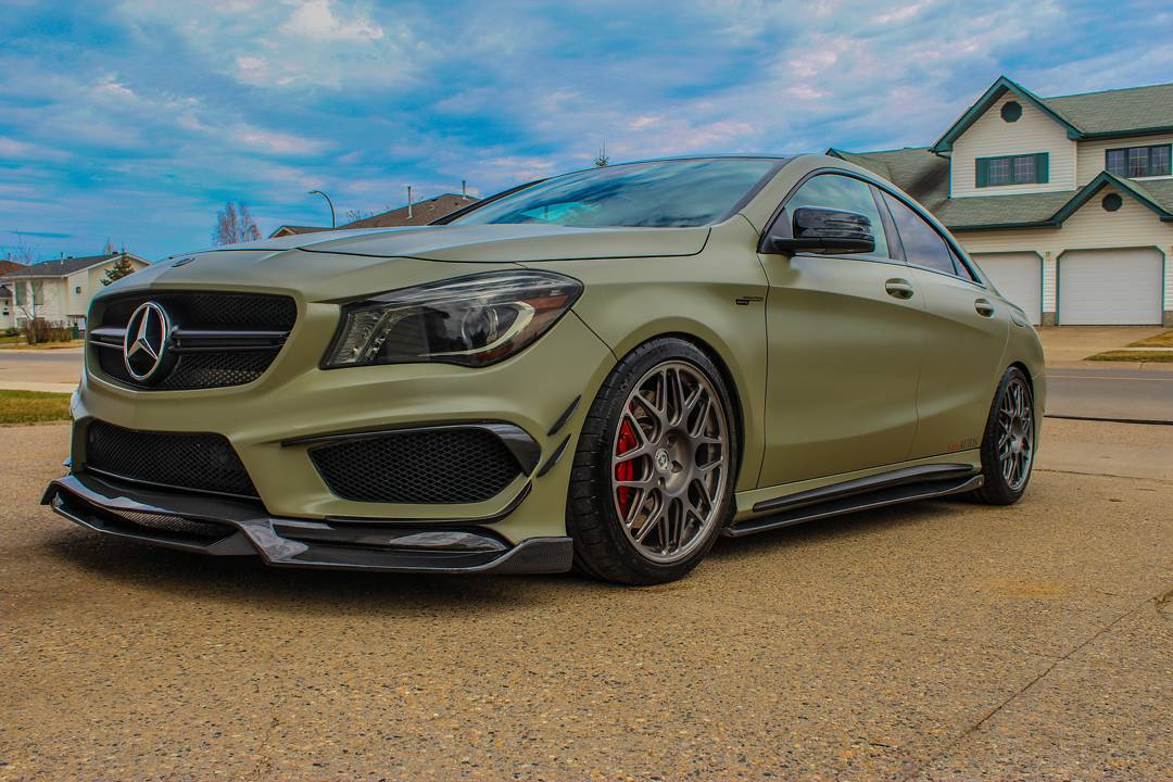 Satin khaki green 2014 Mercedes-Benz CLA45 AMG