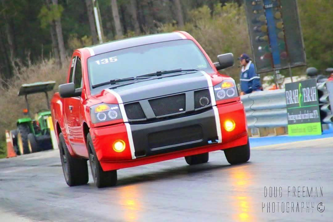 Red 2007 Nissan Titan